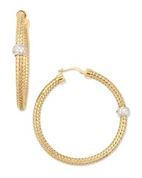 18K Yellow Gold Mini Primavera Hoop Earrings Roberto Coin Red