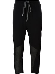 Lost And Found Rooms Drop Crotch Cropped Trousers Black