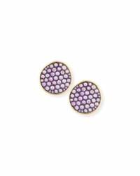 Ethos Maria 18K Yellow Gold Amethyst Button Earrings