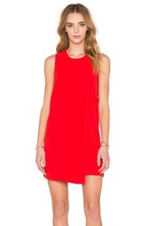 Fifteen Twenty Asymmetrical Shift Dress Red