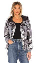 Soia And Kyo Carolee Jacket In Metallic Silver.