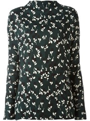 Marni Forest Night Print Blouse Green