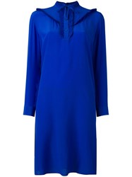 Paul Smith Ps By Frill Bib Dress Blue