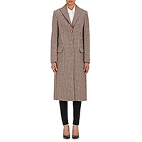 Nina Ricci Women's Checked Flannel Coat Burgundy