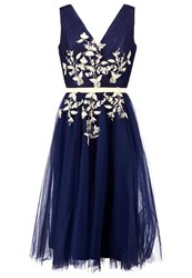 Chi Chi London Saffie Cocktail Dress Party Dress Navy Dark Blue