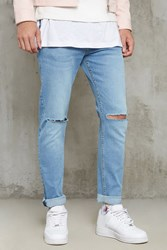 Forever 21 Ripped Knee Slim Fit Jeans