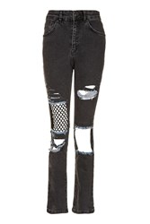 Topshop Mesh Insert Jeans By Ragged Priest Blue