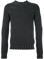 Tod's Cable Knit Jumper Grey