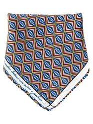 Fe Fe Fefe Geometric Print Pocket Square