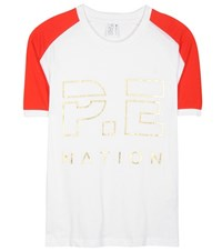 P.E Nation One Time Raglan Cotton T Shirt White