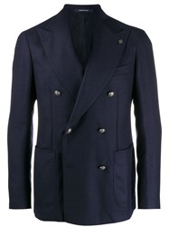 Tagliatore Checked Pattern Blazer Neutrals