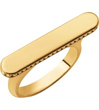 Links Of London Narrative Long 18Ct Gold Vermeil Ring