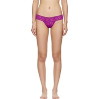 Hanky Panky Pink Lace Low Rise Thong