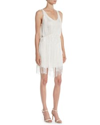 5b933f024d7 Haute Hippie Grandeur Fringe Mini Cocktail Dress Off White