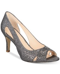 Charter Club Joeel Peep Toe Pumps Created For Macy's Women's Shoes Pewter