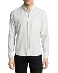 Billy Reid Rosedale Striped Button Shirt White