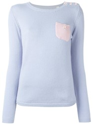 Chinti And Parker One Pocket Jumper Blue