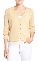 Eileen Fisher Women's Organic Linen And Cotton V Neck Cardigan
