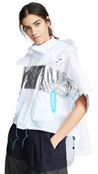 Kolor Layered Parka Clear White