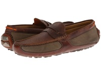 Trask Derek Saddle Bison Leather Waxed Canvas Men's Sandals Brown