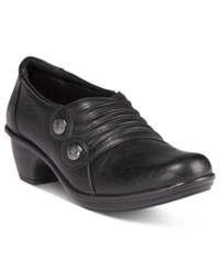 Easy Street Shoes Edison Flats Women's Black