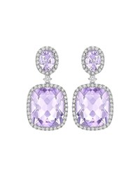 Kiki Mcdonough Signature Lavender Amethyst And Diamond Drop Earrings