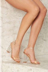 Clear The Air Lucite Heel Rose Gold 77486