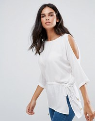 Blend She River 3 4 Sleeve Top White