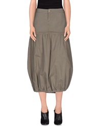 Manila Grace Denim Skirts Grey