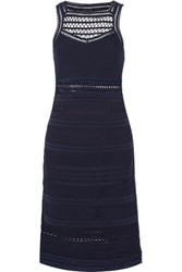 Ohne Titel Crochet Knit Dress Midnight Blue