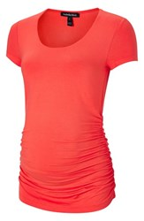 Isabella Oliver Women's Scoop Neck Maternity Tee Rich Apricot