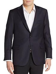 Hickey Freeman Regular Fit Worsted Wool Sportcoat Navy