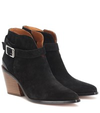 Rag And Bone Ramone Suede Ankle Boots Black