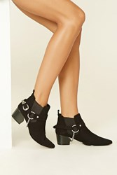 Forever 21 Faux Suede Chain Booties