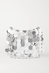 Paco Rabanne Sparkle 1969 Paillette Embellished Satin Shoulder Bag Silver