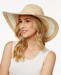 Vince Camuto Nautical Stripe Floppy Sun Hat Whey