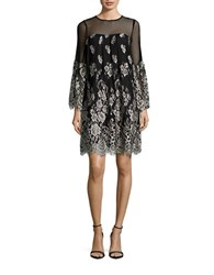 Erin Fetherston Trudie Illusion Neck Dress Black