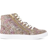 Steve Madden Earnst Glitter High Top Trainers Multi Glitter