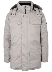 Canada Goose Windmere Light Grey Quilted Twill Coat