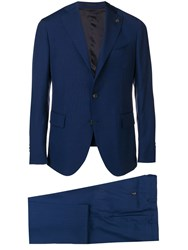 Gabriele Pasini Slim Single Breasted Suit Blue