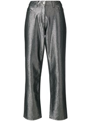 Alberta Ferretti Metallic Tailored Trousers