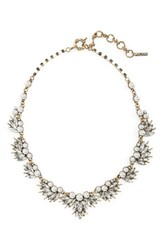 Loren Olivia Women's Crystal And Imitation Pearl Necklace Gold