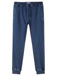 Jigsaw Cotton Jersey Jogging Trousers Indigo