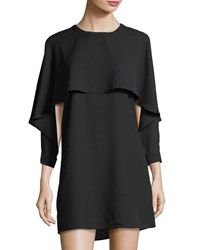 Collective Concepts Tiered Shift Dress Black