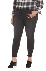Kut From The Kloth Plus Size Donna Frayed Released Hem Crop Skinny Jeans Ideal W Black Base Wash