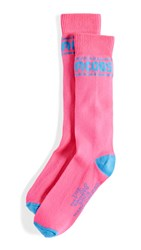 Marc Jacobs The Day Glo Sports Socks Pink Multi