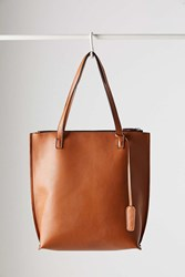 Silence And Noise Zip Pebbled Tote Bag Brown