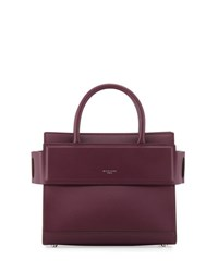 Givenchy Horizon Mini Leather Satchel Bag Purple Dark Purple