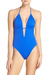 Milly Women's Acapulco One Piece Swimsuit Cobalt Blue