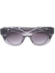 Vera Wang Embellished Cat Eye Sunglasses Grey